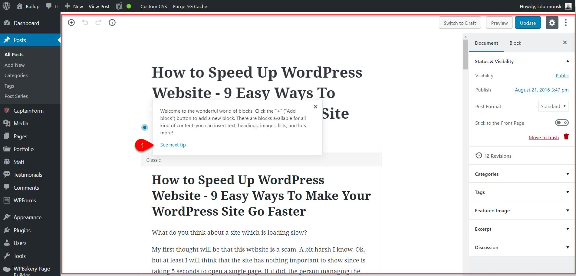 Gutenberg WordPress Editor Plugin 4