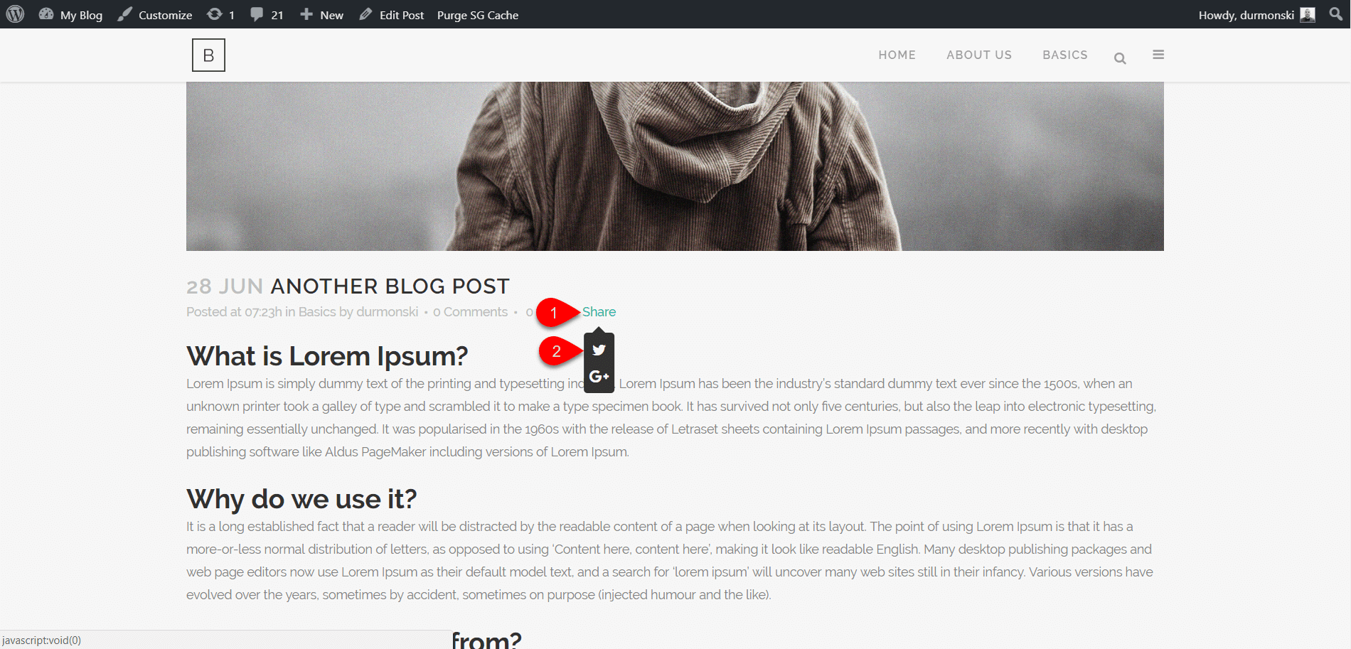 Review of the WordPress theme Bridge 25