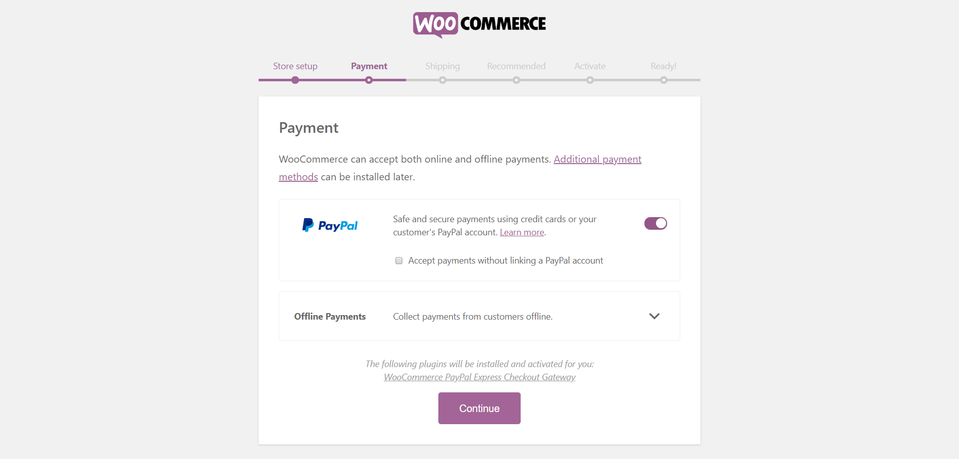 Configuring WooCommerce 1