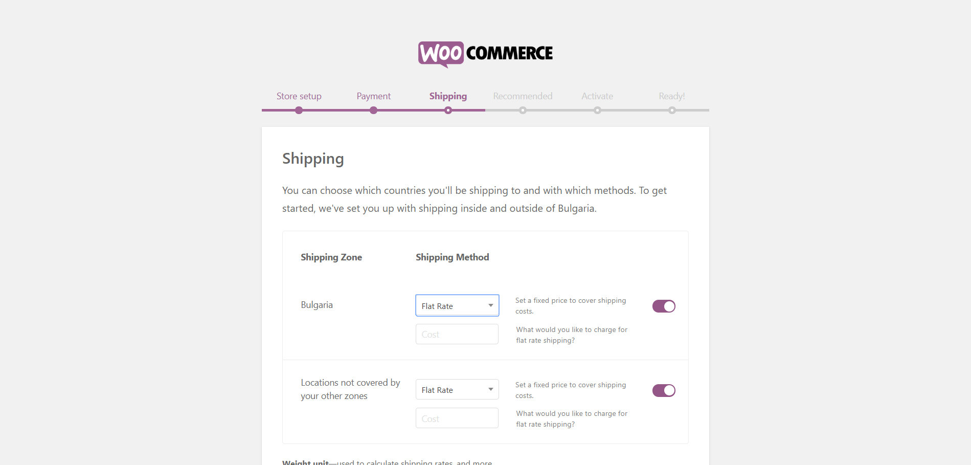 Configuring WooCommerce 2