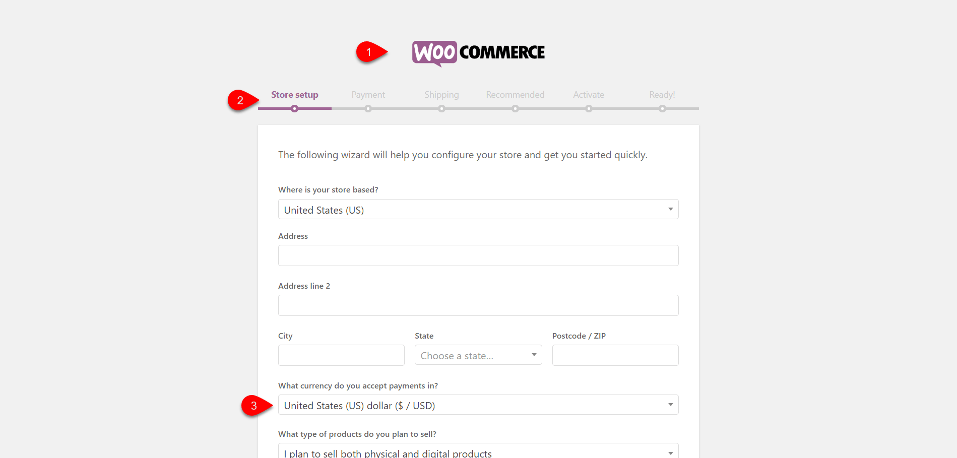 Configuring WooCommerce