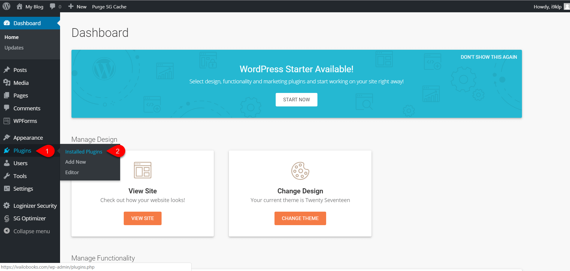 Installing WordPress on SiteGround 5