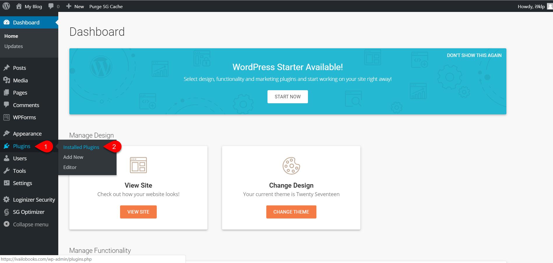 Installing WordPress on SiteGround 5