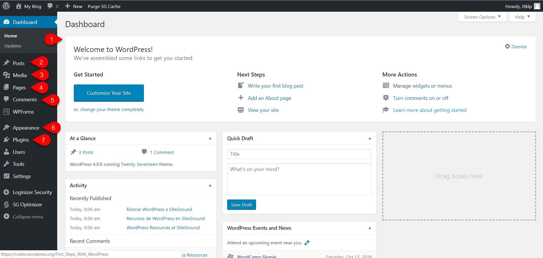 Installing WordPress on SiteGround 7