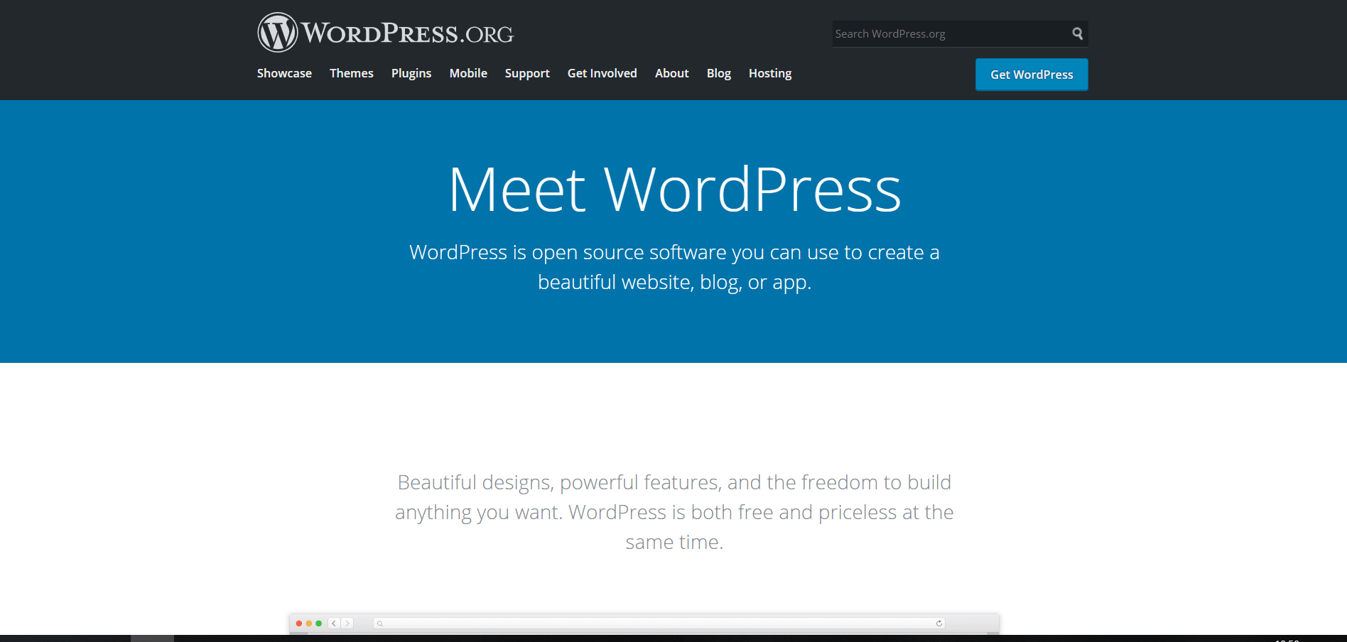 WordPress CMS system