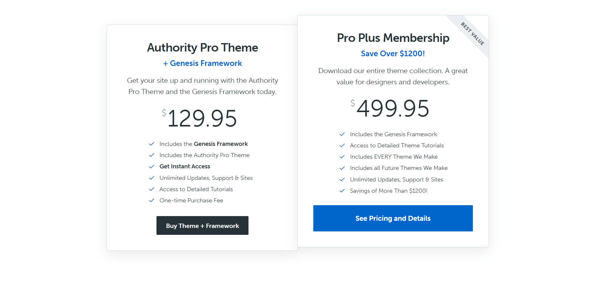 Authority Pro Theme Pricing 2