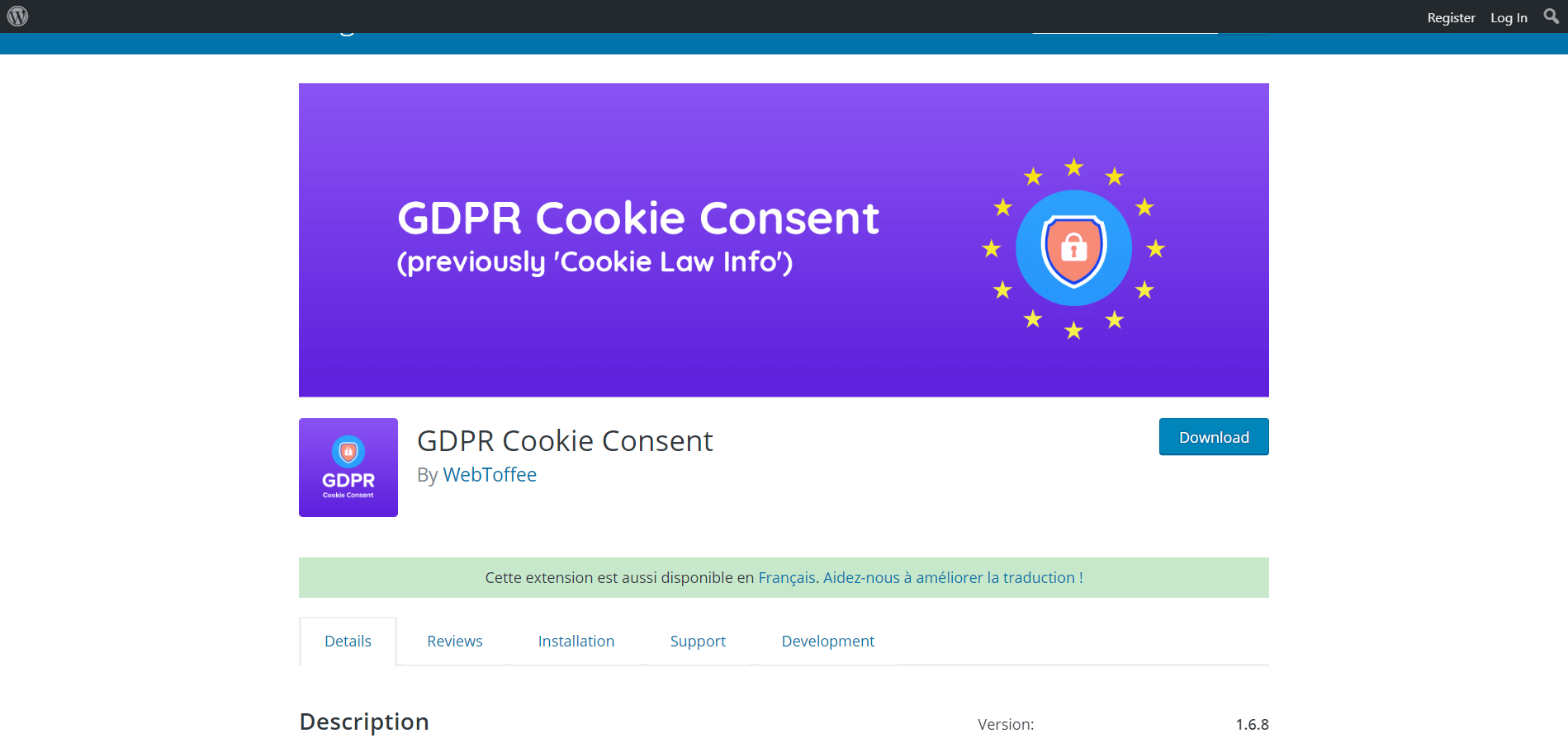 Configure GDPR Cookies Plugin