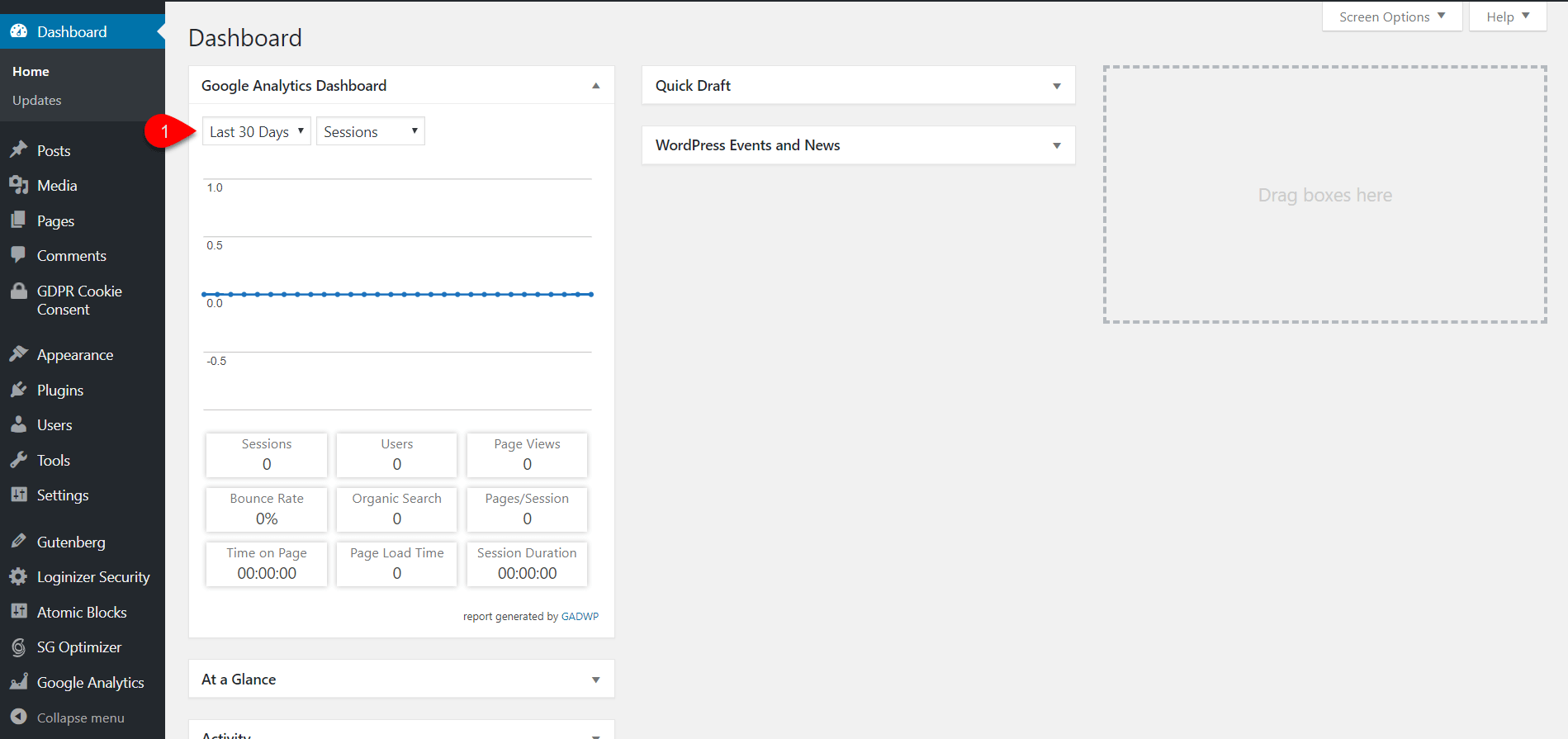 Configure Google Analytics Dashboard for WP 12
