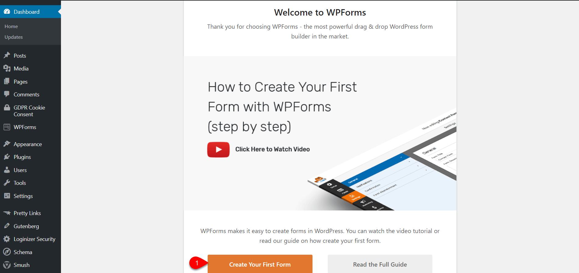 Configure WPforms 2