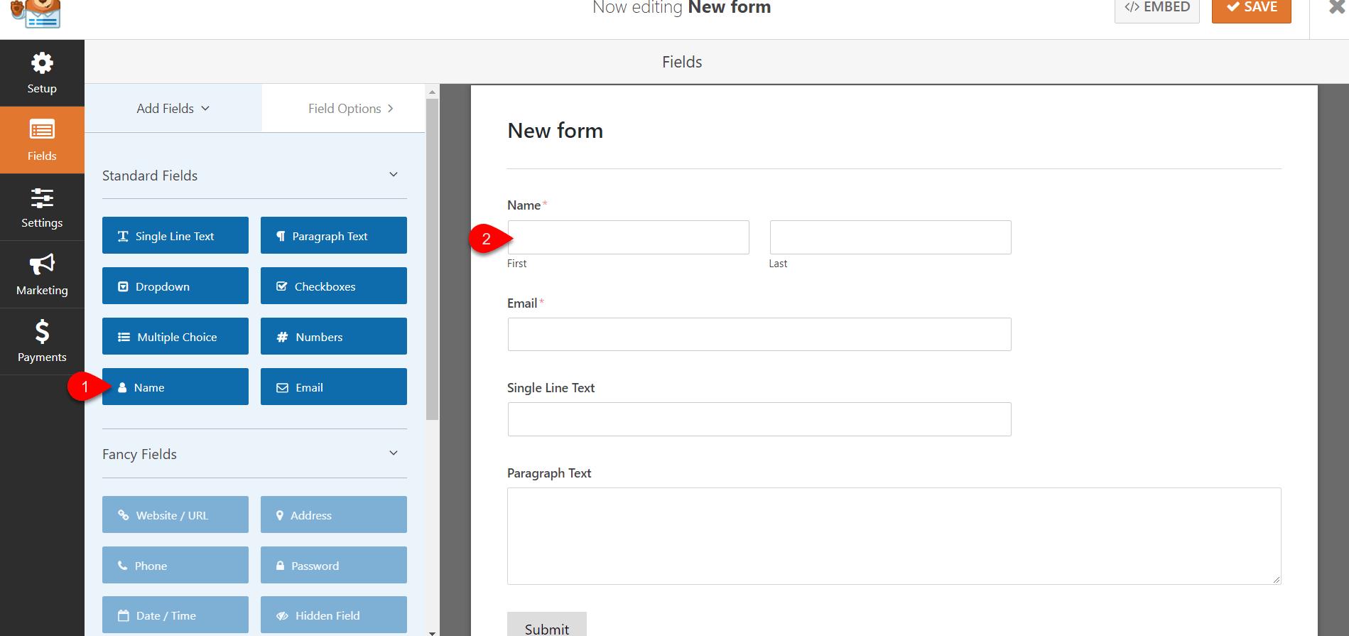Configure WPforms 4