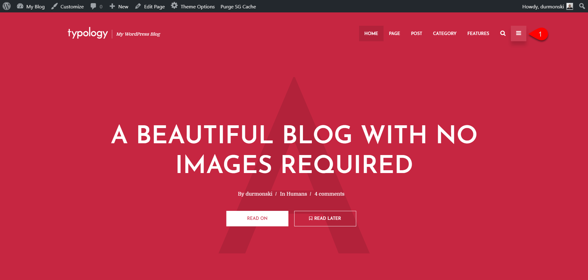 Installing Typology WordPress Theme 12