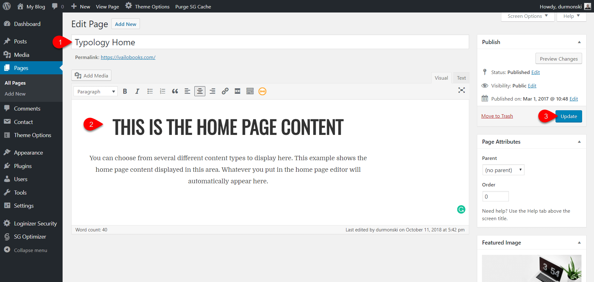 Installing Typology WordPress Theme 22