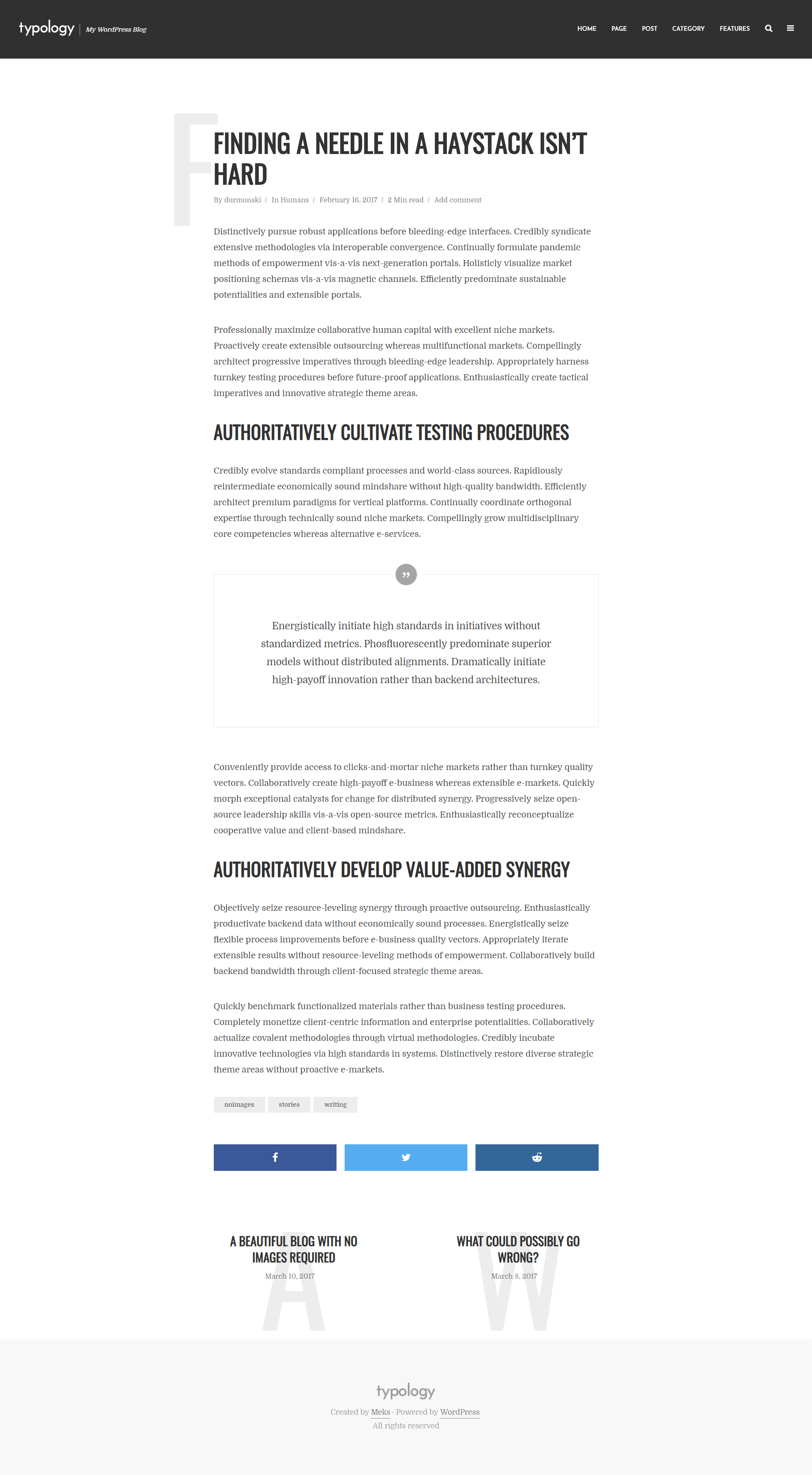 Installing Typology WordPress Theme 28