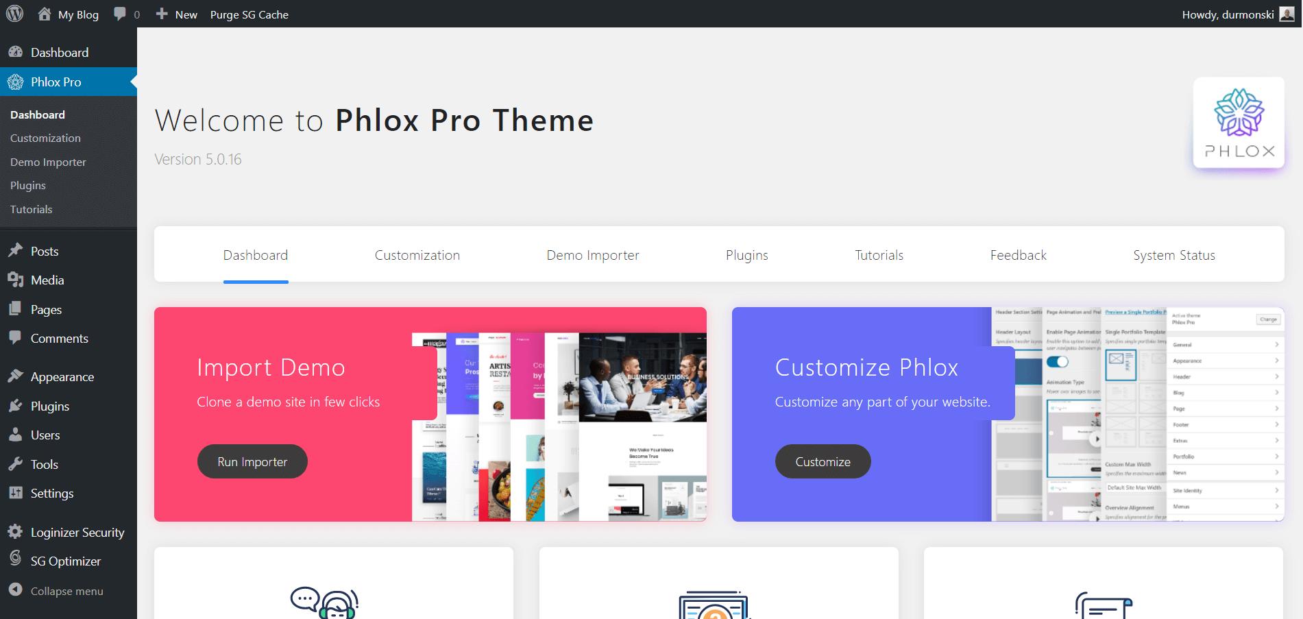 Phlox Pro Theme Installation 3