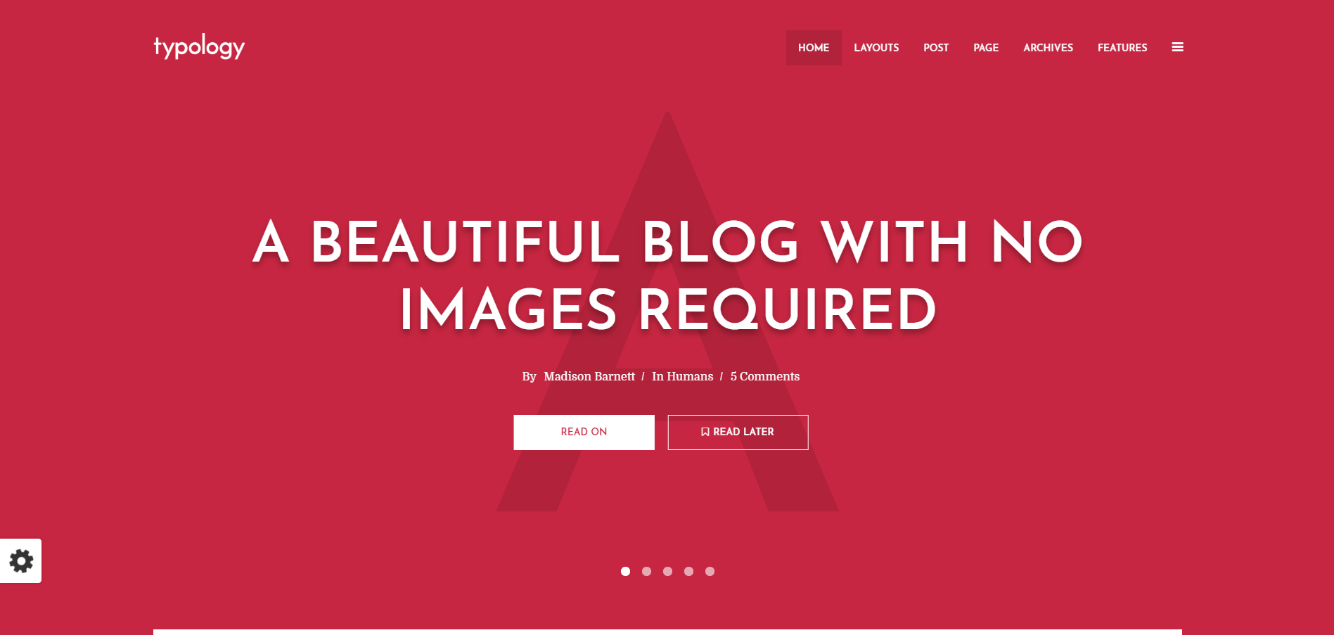 Typology WordPress Theme Review