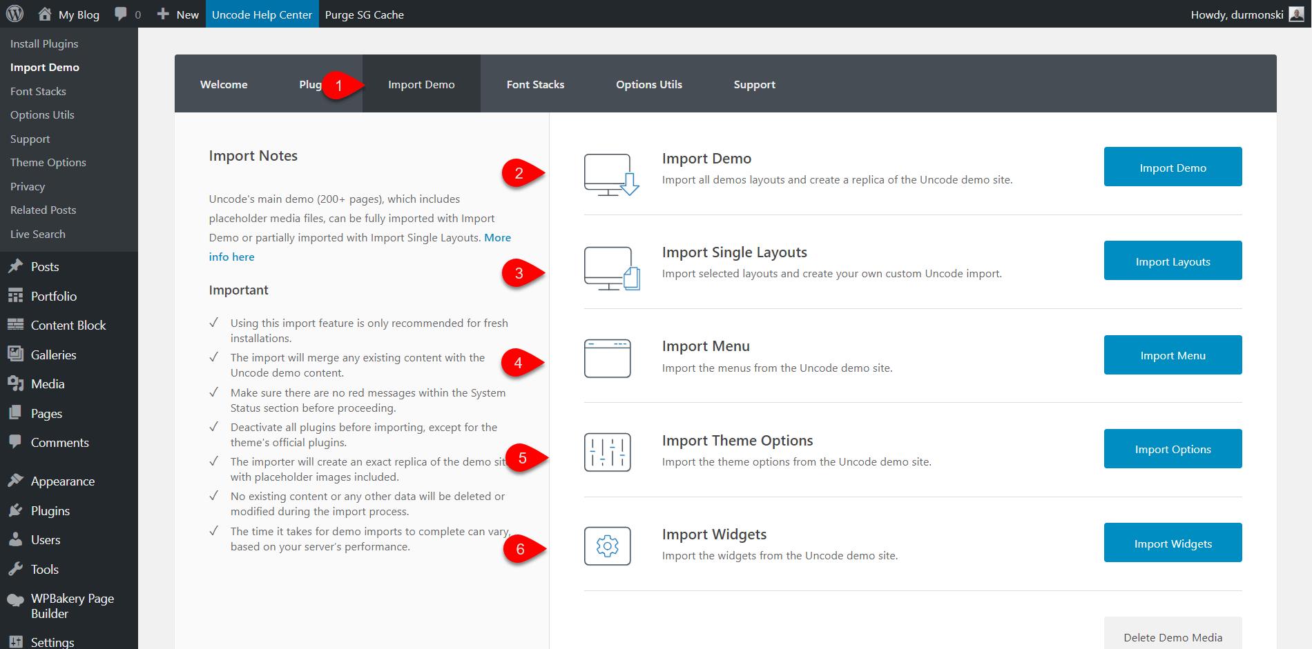 Uncode WordPress Theme Settings 4