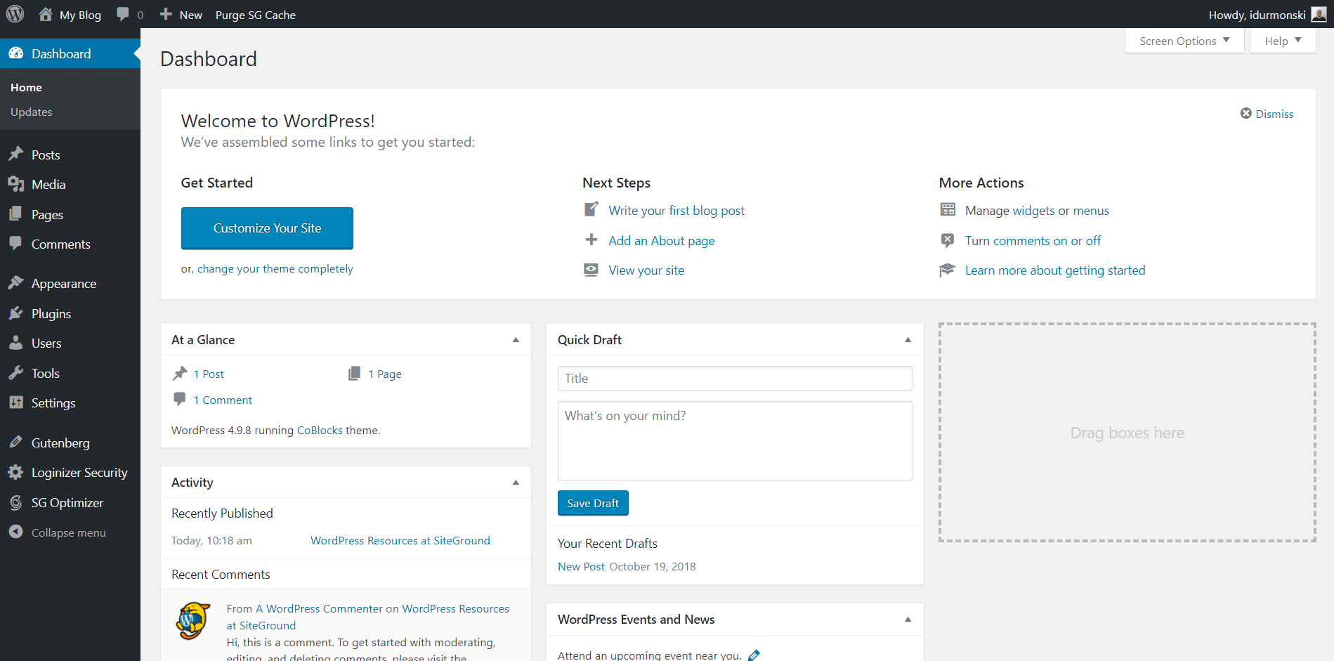 WordPress Dashboard Explained