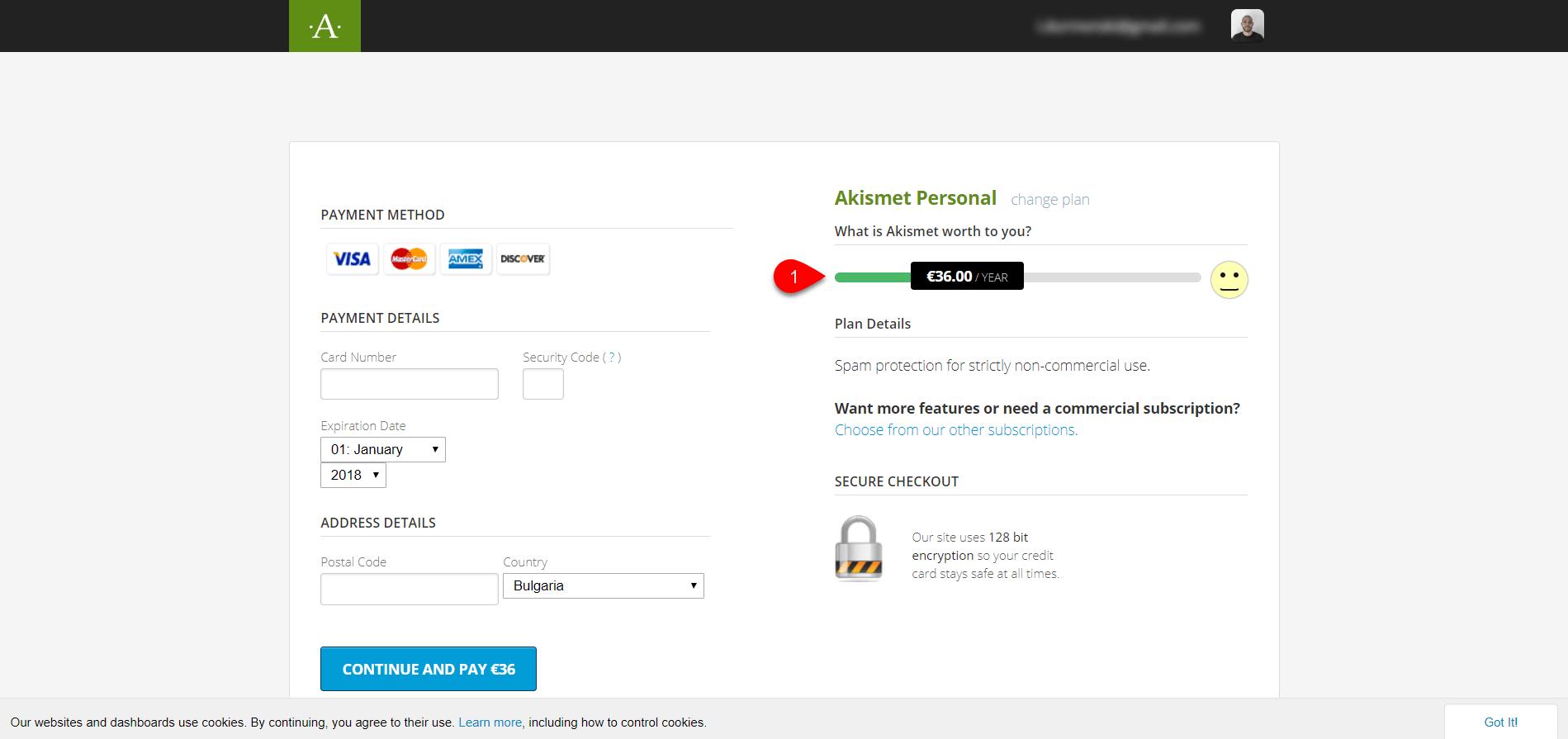 configure Akismet plugin 7