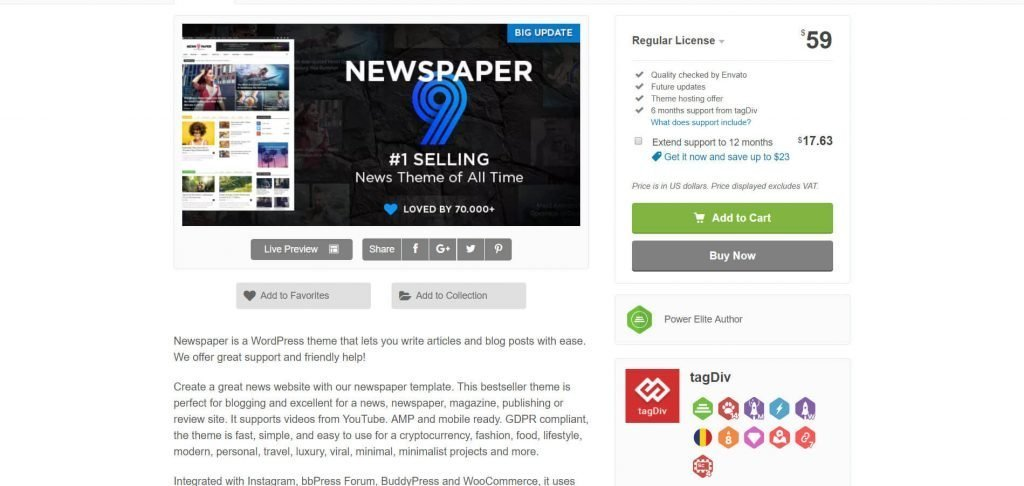 Newspaper 9 WordPress theme review