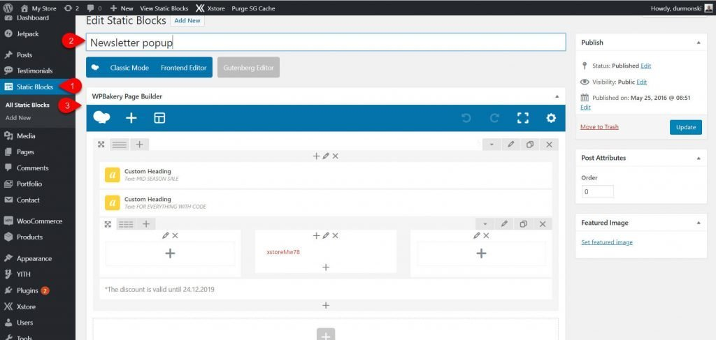 WPBakery WordPress with XStore