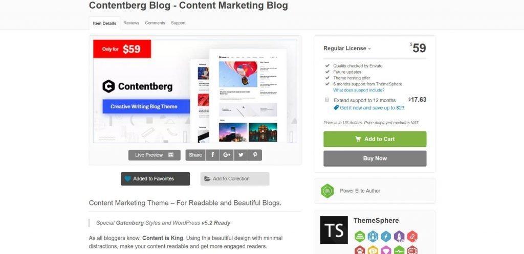 contentberg theme price