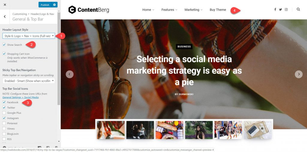 contentberg theme review 11