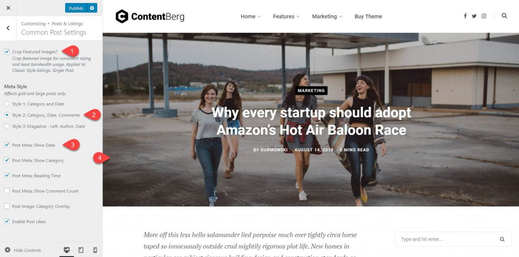 contentberg theme review 12