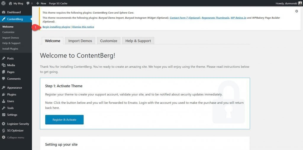 contentberg theme review 2