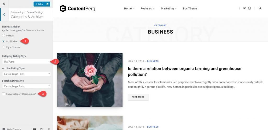 contentberg theme review 20