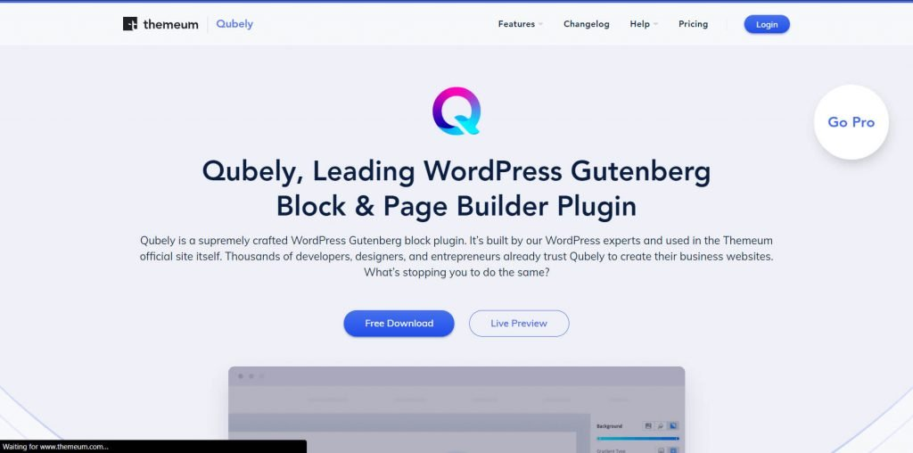 Gutenberg Blocks and Page Builder – Qubely plugin