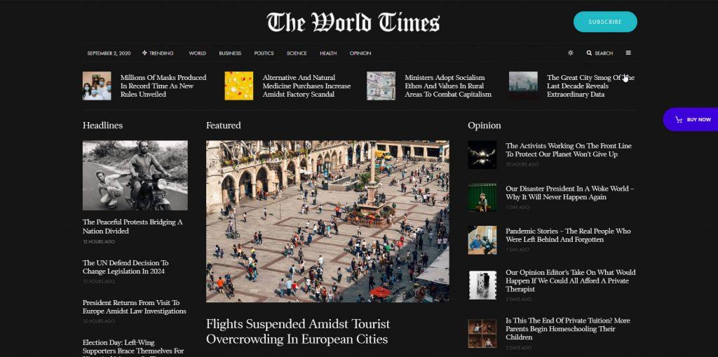 Newspaper Demo wordpress theme
