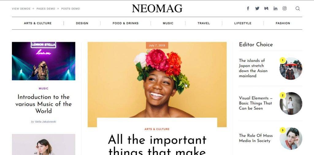neomag wordpress theme