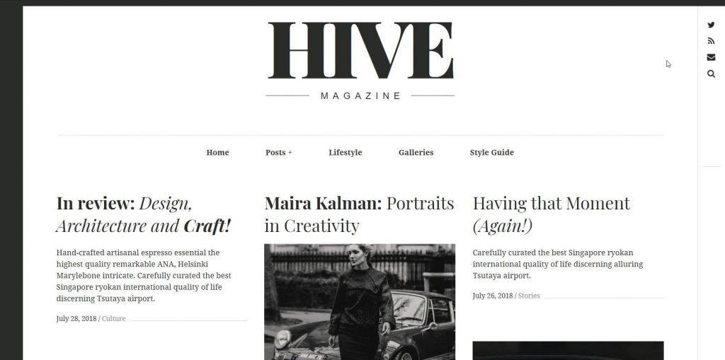 the hive wordpress theme