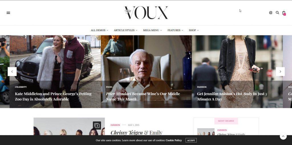 voux wordpress theme
