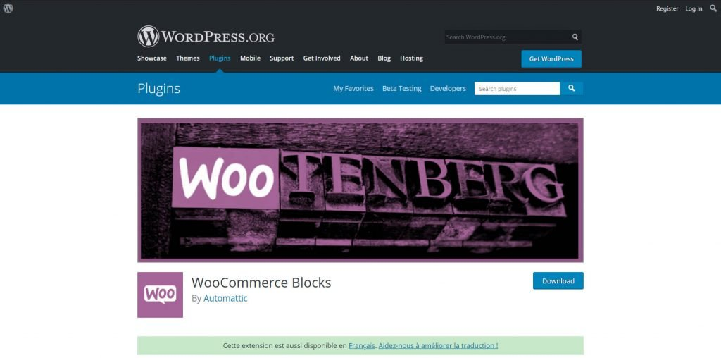 woocommerce blocks plugin